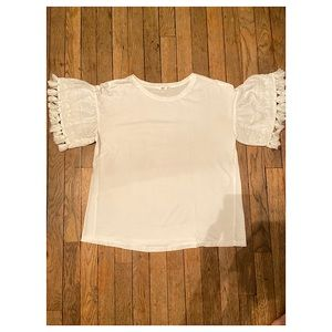 Mango Tops - White Short Sleeve Top